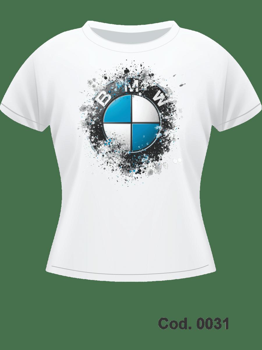 CAMISETA DRYFIT FATOR 70%  - IMPR. FRONTAL BMW - FEM BABYLOOK  - M CURTA - TAM. P, M, G