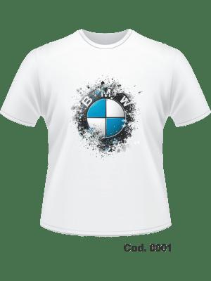 CAMISETA DRYFIT FATOR 70%  - IMPR. FRONTAL BMW - ADULTO M F  - M CURTA - TAM. M, G, GG