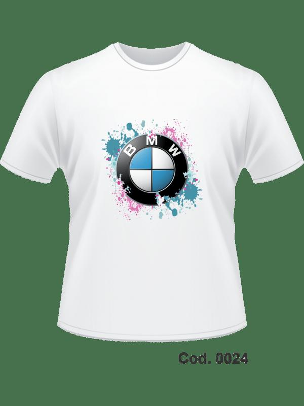 CAMISETA 100% ALG - IMPR. FRONTAL BMW - ADULTO M F - M CURTA - TAM. M, G, GG
