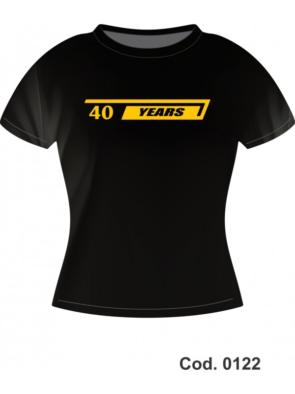 CAMISETA 100% ALG - BMW 40 YEARS- ADULTO M F - M CURTA - TAM. M, G, GG