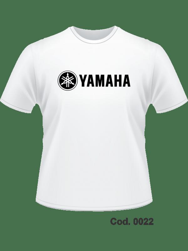 CAMISETA 100% ALG - IMPR. FRONTAL YAMAHA - ADULTO M F - MANGA CURTA - TAM. M, G, GG