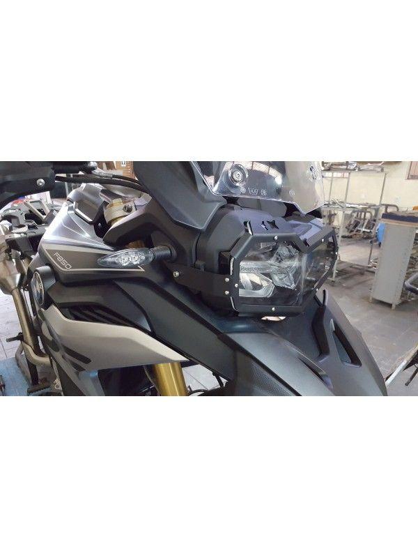 BMW F750-F850 GS-GSA> PROTETOR DE FAROL RÍGIDO AÇO/ACRILICO