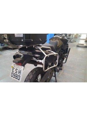 BMW F800 GS> PAR MALAS LATERAIS ALUMÍNIO 36/40 litros+SUPORTE INOX (IDÊNTICO AOS ORIGINAIS)