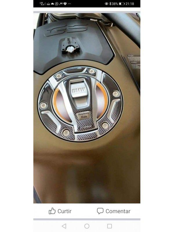 ADESIVO PERSONALIZADO PROTEÇÃO DA TAMPA DO TANQUE - FIBRA CARBONO - BMW GS 1200/GS 1250