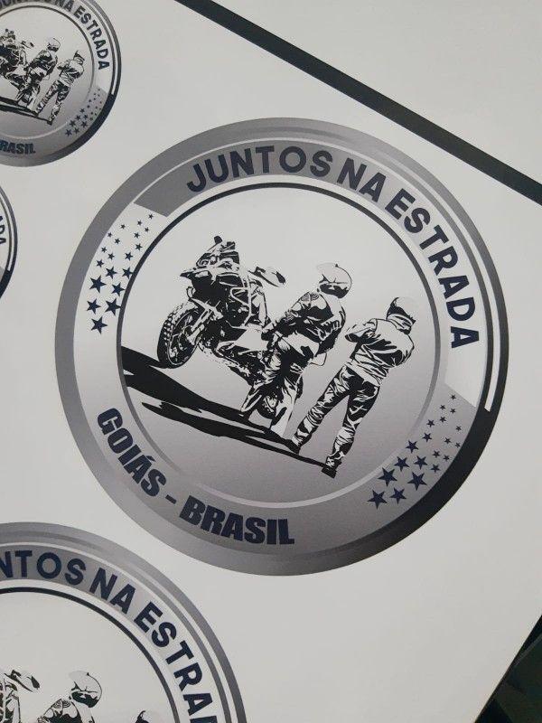 ADESIVO MOTOCLUBE/EVENTOS... 8X8 CM -  C/ 100 PECAS, C/ RESINA