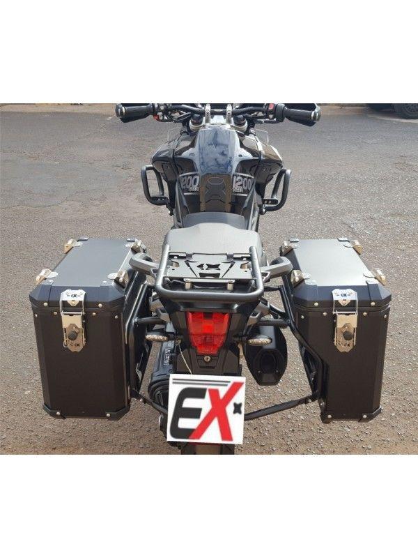 TRIUMPH EXPLORER 1200> PAR MALAS LATERAIS ENVOLVENTE  ALUMÍNIO (44/36 L) + SUPORTE (MODELOS XR/XC/XCX/XRX)