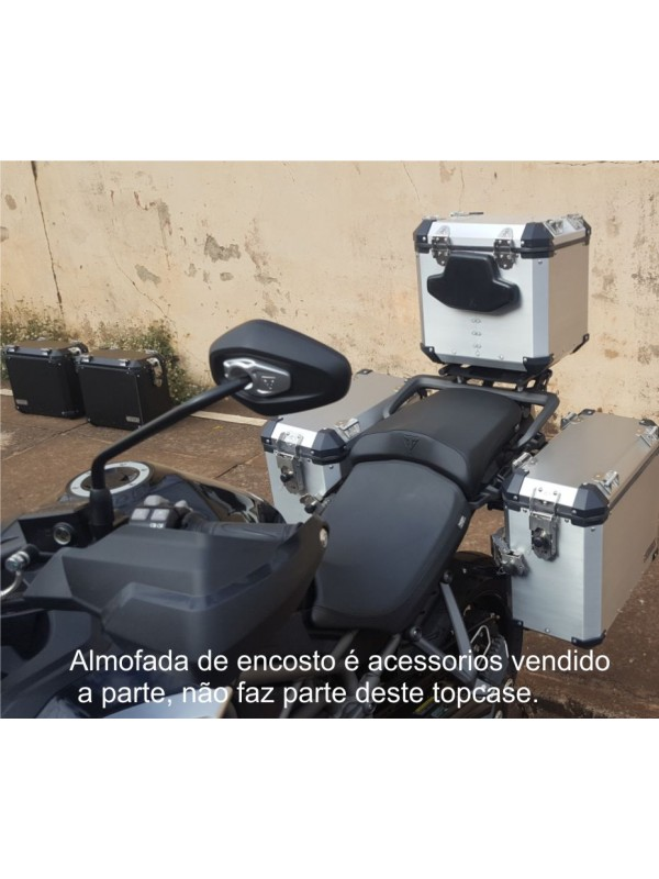 TRIUMPH EXPLORER 1200> KIT 44-36-39 -PAR MALAS LAT. 44\36 L ALUMINIO + SUP. LATERAIS + TOP CASE 39 l ( 1 CAPACETE) + SUP. TOP CASE  (XR/XC/XCX/XRX) CORTESIA PAR BOLSAS LATERAIS INTERNAS