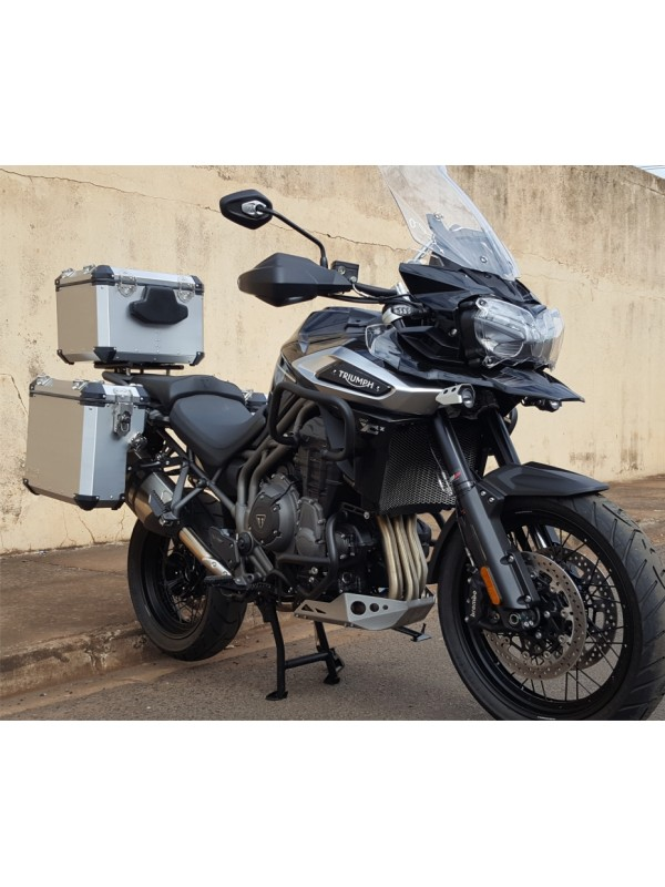 TRIUMPH EXPLORER 1200> KIT 44-36-49 -PAR MALAS LAT. 44\36 L ALUMINIO + SUP. LATERAIS + TOP CASE 49 l ( 1,5 CAPACETE) + SUP. TOP CASE  (XR/XC/XCX/XRX) CORTESIA PAR BOLSAS LATERAIS INTERNAS