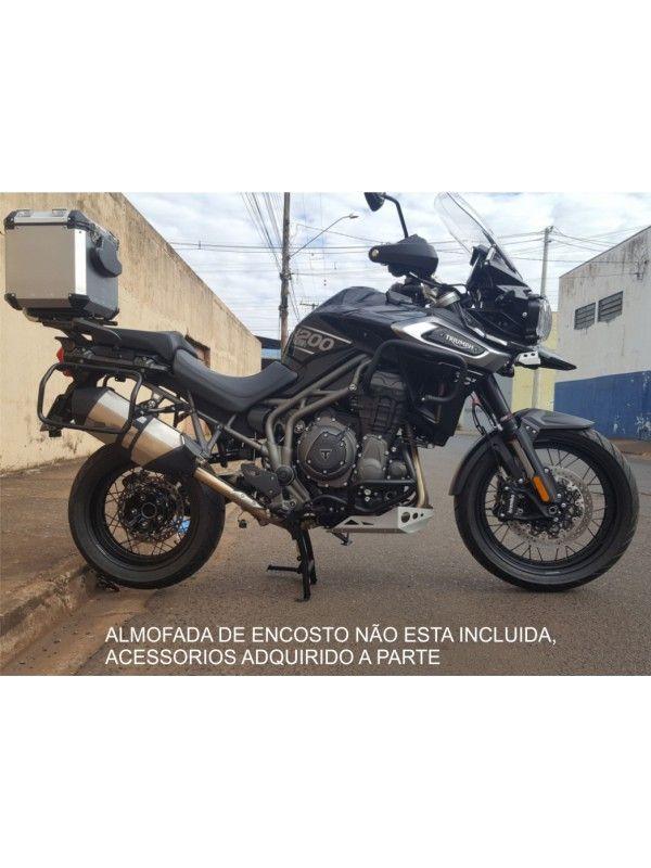TRIUMPH EXPLORER 1200 - TOP CASE ALUMÍNIO 39 L (1 CAPACETE) + SUP AÇO