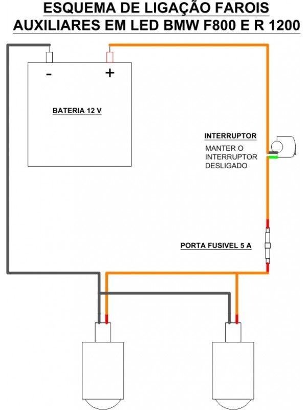 KIT ELETRICO  FAROIS AUX - INTERRUP ANALOGICO 22MM 12V IMPERMEAVEL
