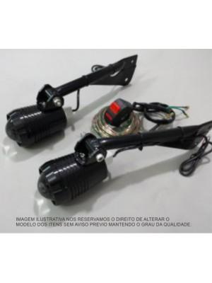 BMW F800 GSA > FARÓIS AUX SEM LED (FERRAGEM+KIT DE LIGAÇÃO)