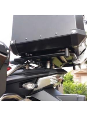 BMW R1200 AC GS PREMIUM/SPORT > TOPCASE ALUMÍNIO 39 L (1 CAPACETE) + SUPORTE INOX