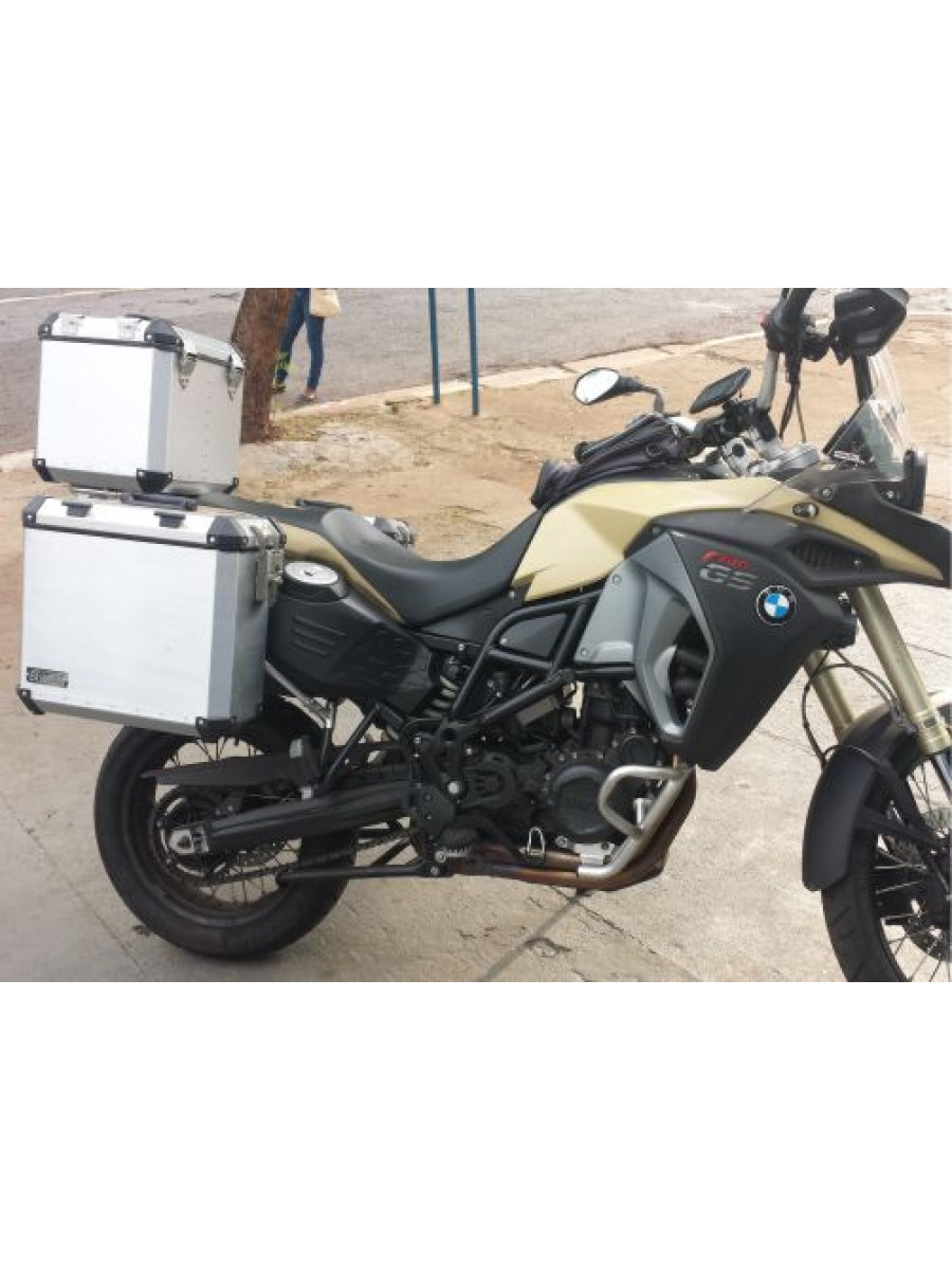BMW F800 GSA > KIT PAR MALAS LATERAIS 36/40 LT + TOPCASE 39 LT + SUPORTE TOPCASE, GRATIS PAR BOLSAS INTERNAS LATERAIS