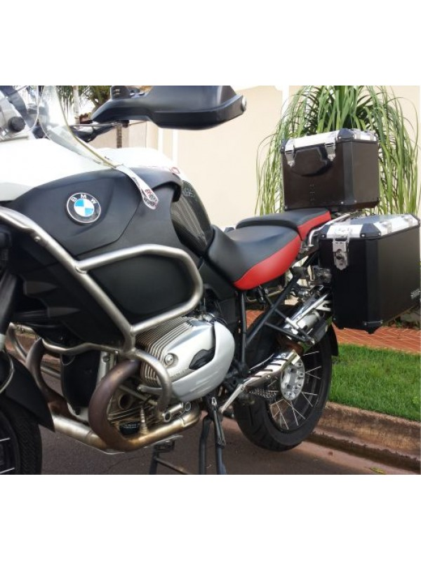BMW R1200 AC GS ADVENTURE > KIT MALAS LATERAIS 36/44 L + TOPCASE 39 L + SUPORTE INOX, GRATIS PAR BOLSAS INTERNAS LATERAIS