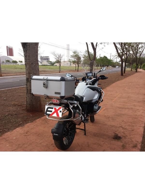 BMW R1200 LC GS PREMIUM/SPORT > TOPCASE ALUMÍNIO 60 L (2 CAPACETES) + SUP INOX + PAR  REFORÇO DO BAGAGEIRO ORIGINAL