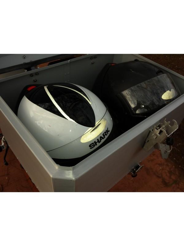 BMW R1200 AC GS PREMIUM/SPORT > TOPCASE ALUMÍNIO 60 L (2 CAPACETES) + SUPORTE INOX