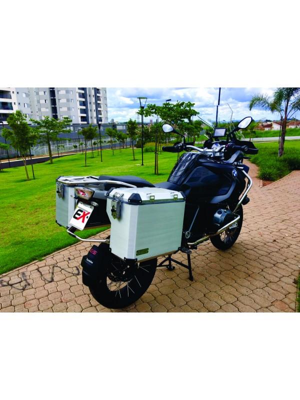 BMW R1200 LC GS PREMIUM/SPORT > PAR MALAS LATERAIS ALUMÍNIO 49/55 L PAR + SUPORTES INOX